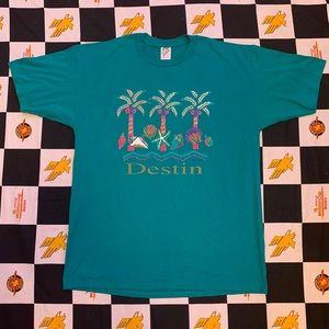 Vintage 1994 Destin Florida Tee Size XL 90s